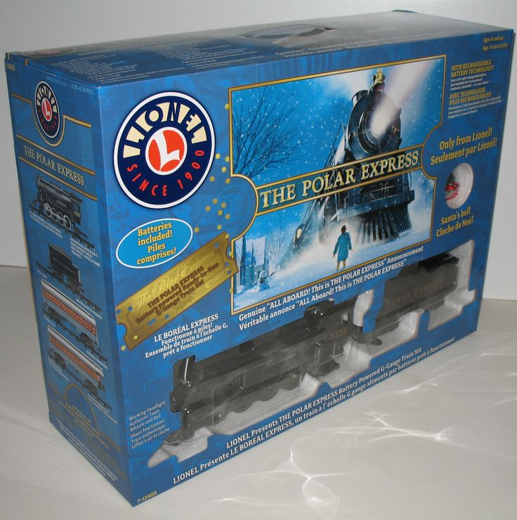 If you and your family loved The Polar Express book by Chris Van Allsburg and the Warner Brothers movie of the same name,  you will love this G gauge train set from the train company, Lionel! #trains #polarexpress #chrisvanallsburg