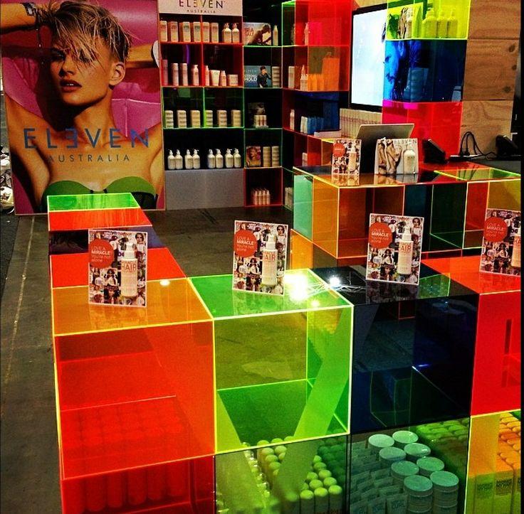 Lots of colour at the ELEVEN Australia stand @SalonMelbourne Australia Australia.