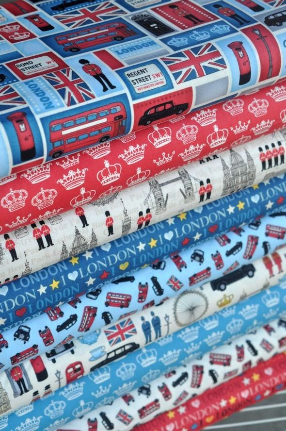we heart london. searching for nifty ideas to use these fabric patters for :0)