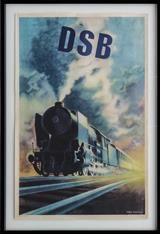 Aage Rasmussen, litografiske plakat for DSB