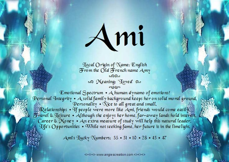 Meaning of Names - Ami