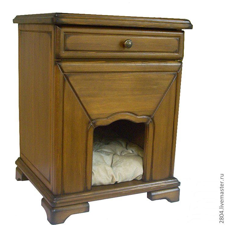 Купить Тумбочка - Домик для собаки - коричневый, мебель прованс, мебель для собак, мебель для животных, интерьер
