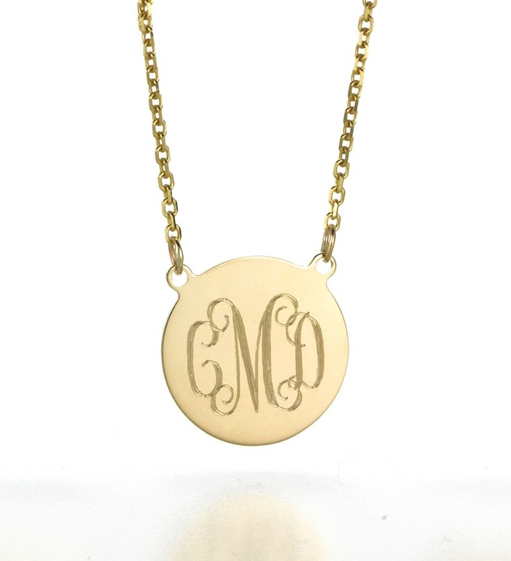 24 best disc necklaces images on pinterest disc necklace initials monogrammed disc necklace that mark and the girls ordered for me for a mothers day present mozeypictures Choice Image
