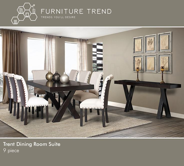 Trent Dining Room Suite Furniture design just got that classic appeal. Basic colors combine with superior technical design to present a collection that will never leave your side. Built to last and created to adapt to any internal Aesthetic you choose to change your interior decoration to, this suite just keeps adding that touch of fashion to any internal environment. Comfortable, sturdy and easy to maintain, when you invest in this furniture collection, you invest in a trustworthy aesthetic…