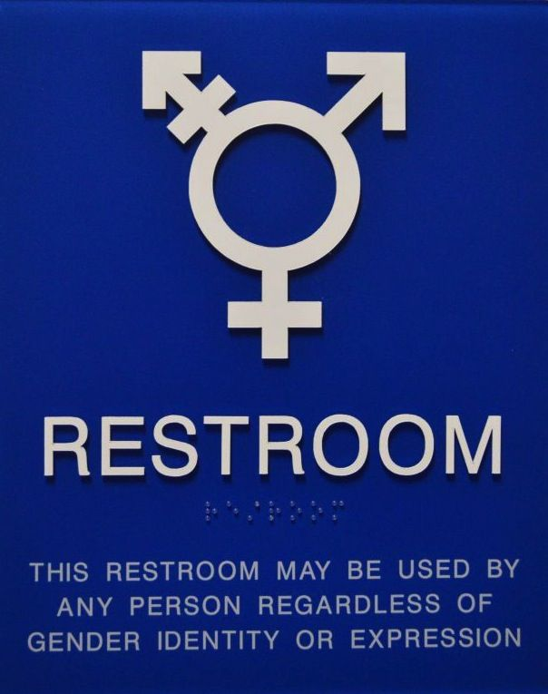 New Restroom Sign Live Laugh Love Pinterest Restroom Signs - All gender bathroom sign for bathroom decor ideas