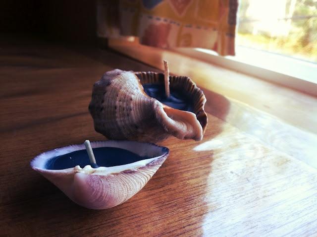 DIY shell candlesOcean Theme, Diy Crafts, Beach Bathroom, Candles Diy, Neat Ideas, Alex Piccinni, Mermaid Teen Room, Bathroom Decor, Diy Shells