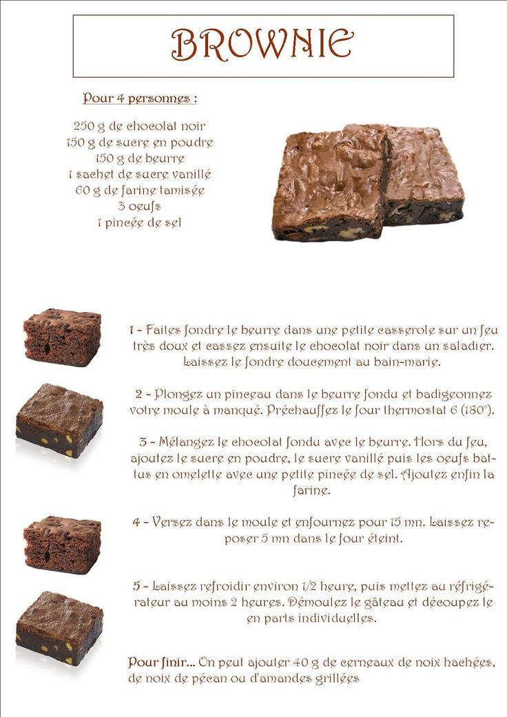 La maternelle de Laurène: Le brownie