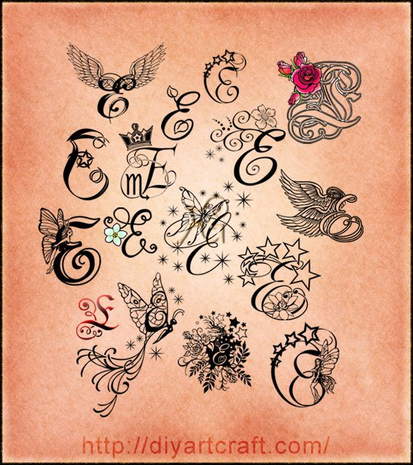 Tattoo Designs Of Letter A: 10 Best Letter E And C Images On Pinterest