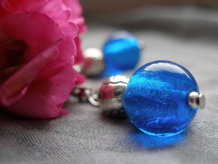 Blue Venetian glass - DIY jewellery earrings