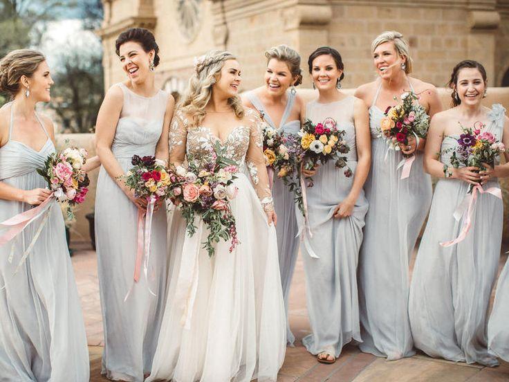 17 Best Ideas About Grey Bridesmaid Dresses On Pinterest