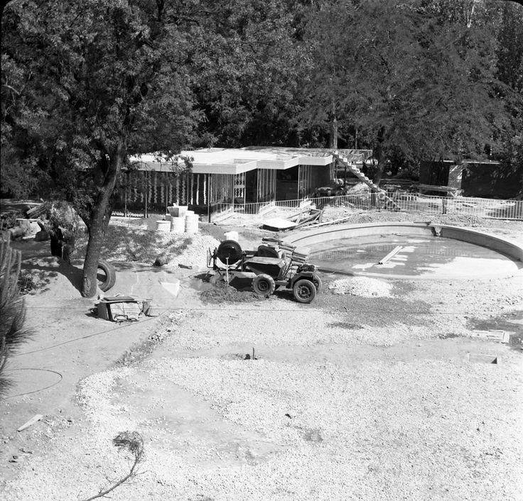 Construção da Piscina do Campo Grande - 1964
