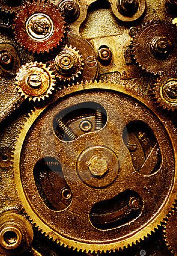 Intricate Workings Of A Vintage Grandfather Clock
