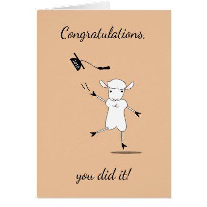 Congratulations Graduate 2018 You Did It! Card - graduation gifts giftideas idea party celebration
