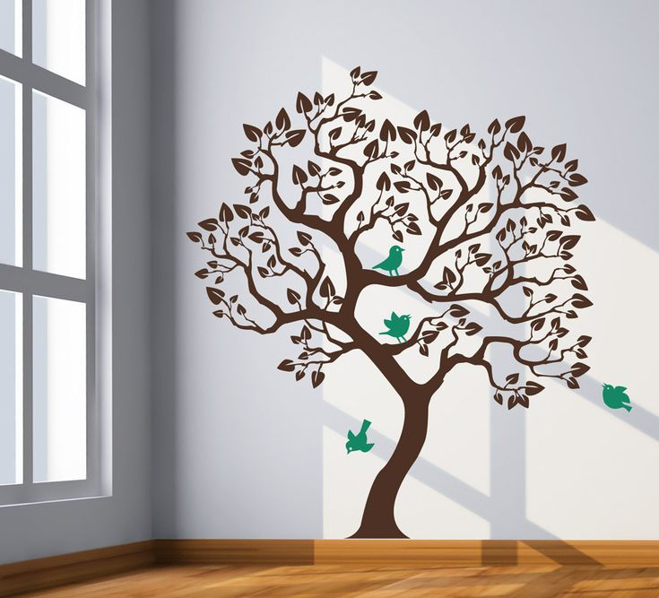 "Unique tree wall decal. Tree wall decal sticker. Size 70""X63"" Wall Decals for Modern Homes. $74.00, via Etsy."