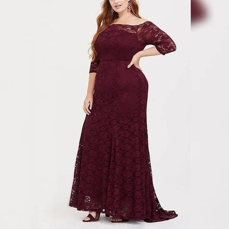 Illusion Lace Sleeve Gown Tadashi Shoji Vestido Para Gorditas Vestidos Largos Para Gorditas Vestidos De Encaje
