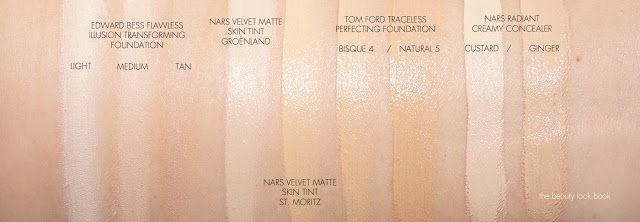 Nars Radiant Creamy Concealer Swatches In Custard Vs