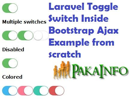 Laravel Toggle Switch Inside Bootstrap Ajax Example