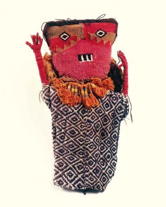 Pre-columbian textile female figure, Chancay culture, Peru, Late Intermediate 1000 - 1430 AD