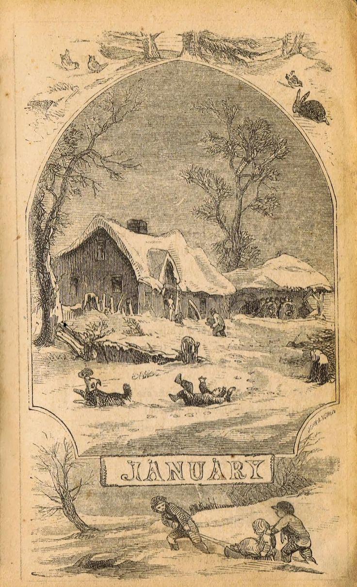 Antique Winter Sledding Illustrations - Royalty Free Printable Graphic ~~~via KnickofTime.net