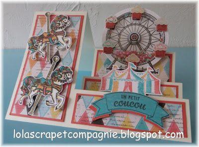Lolascrap et compagnie: carte escalier à secouer Caroussel