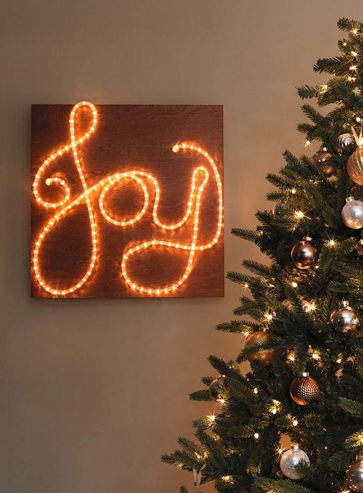 Lighted Merry Christmas Sign
