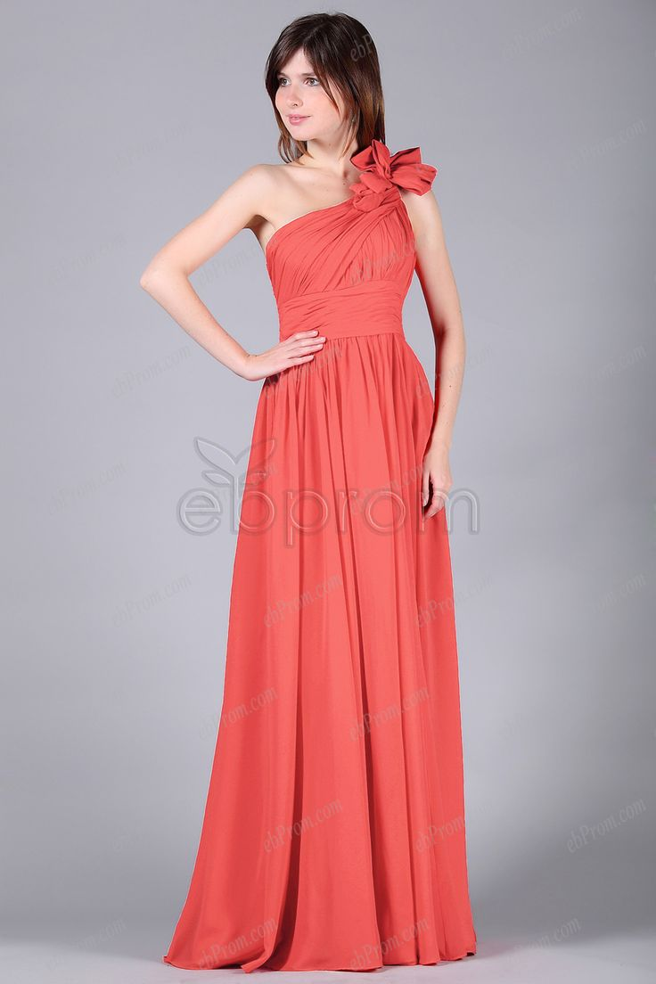 61 best bridesmaid styles and inspirations images on pinterest flowing chiffon long coral bridesmaid dresses ombrellifo Images