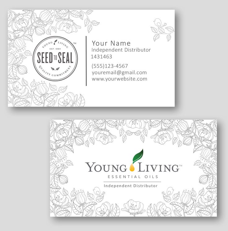Young Living Business Card Template: 17+ Best Ideas About Young Living Distributor On Pinterest