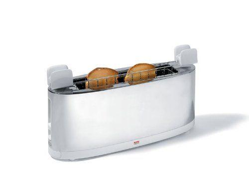 Alessi - SG68 W - Tostapane con griglia scaldabrioche in acciaio inossidabile 18/10 e PC, bianco  SCONTO 44% fino alle 16,30 del 6 Novembre 2016