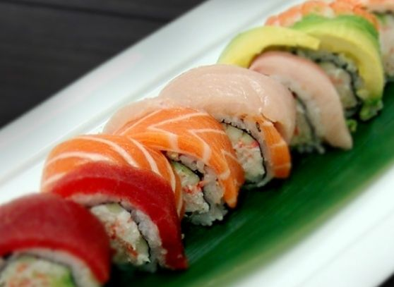 17 best ideas about rainbow roll sushi on pinterest for Yellowtail fish sushi