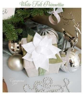 felt poinsettiasChristmas Inspiration, Felt Poinsetta, Poinsettia Pillows, White Felt, Felt Poinsettia, Centsational Girls, Holiday Crafts, Christmas Ideas, Christmas Felt