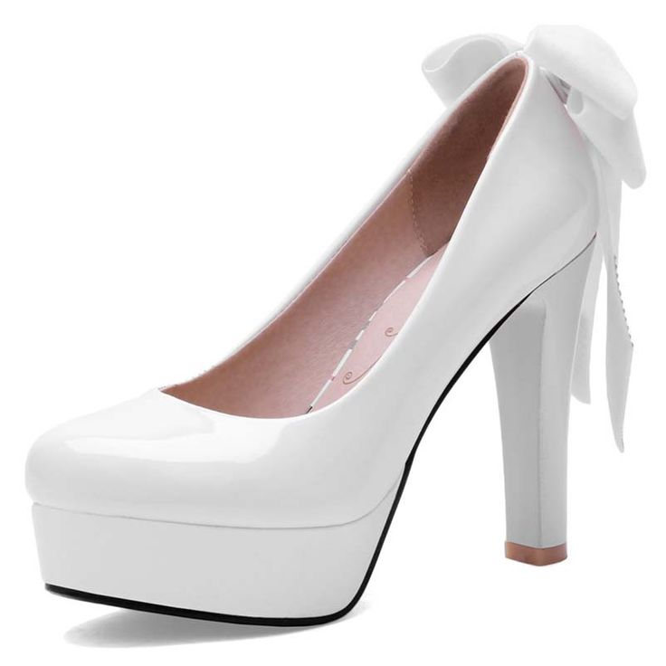 Find More Women's Pumps Information about 2016 Size 34 42 NEW Fashion High Quality Platform Pumps Black Bottom Patent Leather Thick High Heels Bow Tie Party Wedding Shoes,High Quality shoe cord,China tie plastic Suppliers, Cheap shoe red from NPI on Aliexpress.com