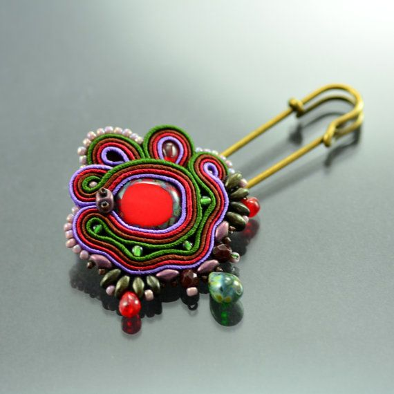 Hey, I found this really awesome Etsy listing at https://www.etsy.com/au/listing/250675483/soutache-brooch-mata-merah-handmade