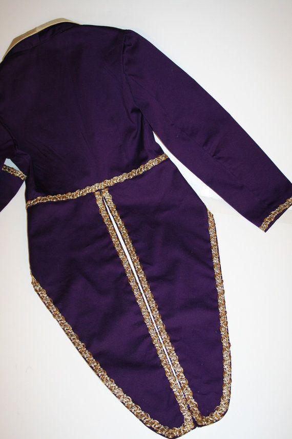 Willy Wonka Circus Ringmaster Tailcoat Jacket Costume - Childs and Adult Sizes…