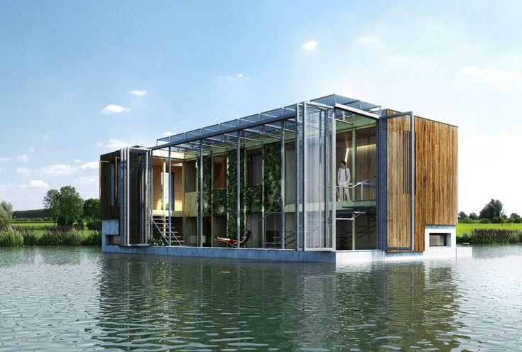 Het is een romantisch idee: wonen op het water. Altijd in de natuur, een prachtig uitzicht en eventueel ook nog een extra bootje voor de deur. www.grotescheur.nl