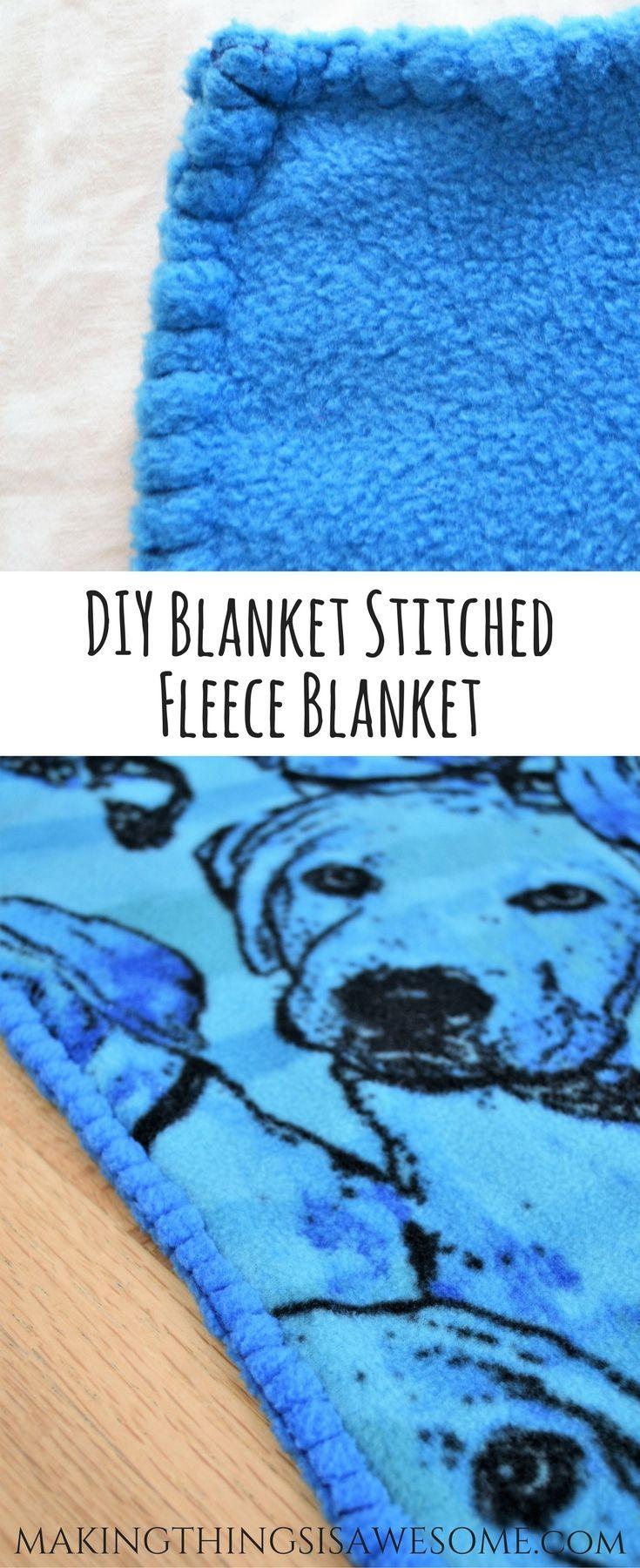 DIY Blanket Stitched Toddler Blanket
