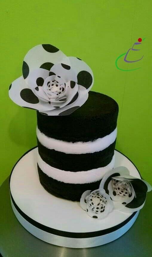 Naked White And Black Cake By Cassandra Rice
