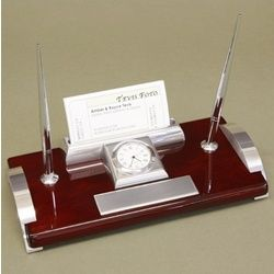 Personalized Executive Desk Set with Clock $49.95