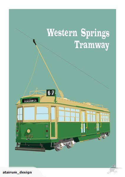 Framed A2 Digital Print - Tram Western Springs | Trade Me