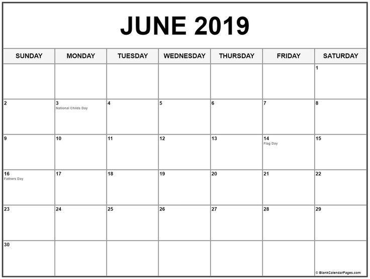 june 2019 calendar with holidays  june  june2019