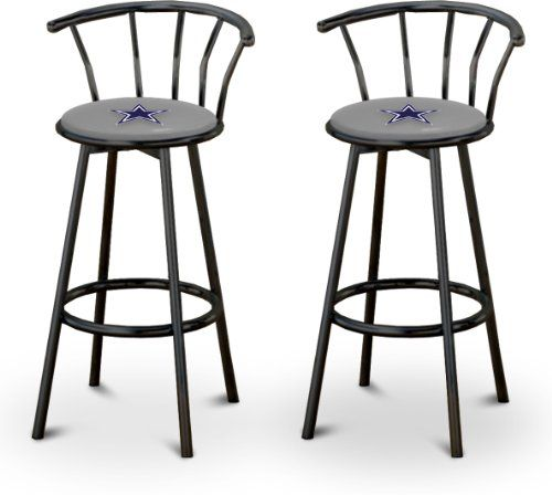 2 24 Dallas Cowboys Logo Themed Custom Specialty Black Swivel Seat Counter Height Bar Stools With