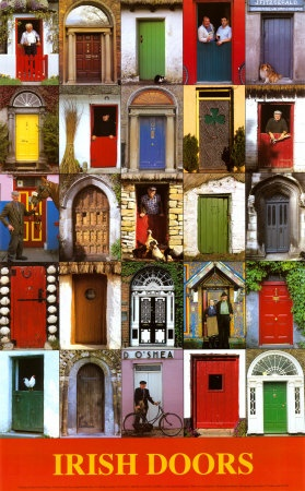 Irish doors-you could find your way home from the pub by recognizing the color of your front door.