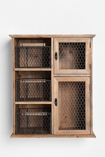 Reclaimed Wood Storage Unit - re-purpose old wood medicine cabinets @ estate sells