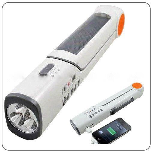 Solar Lamp LED Torch Light Radio FM Dynamo Speaker Battery Charger Mobile
