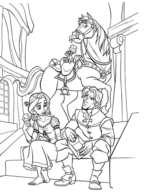 The 21 best Tangled Disney Coloring Pages images on Pinterest