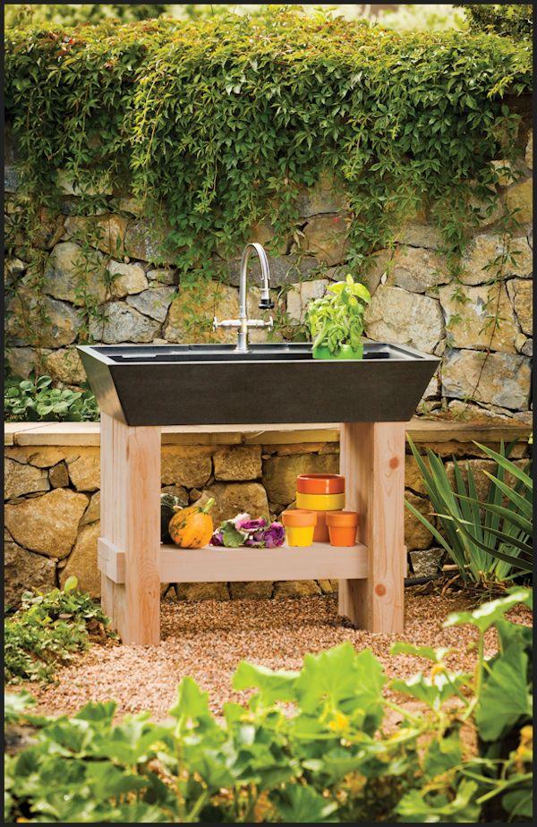 In By Stone Forest In Raleigh, NC   Salus Potting Sink Black Granite /  Salus Potting Sink.