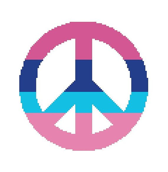 21 Best All Peace Sign Cross Stitch Patterns Images On Pinterest
