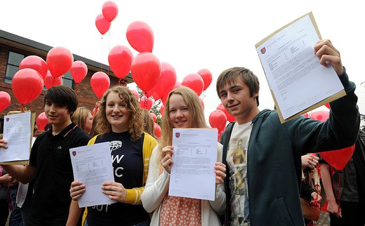 GCSE results day – in pictures