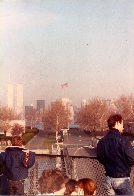 Twin Towers from Liberty Island, New York (1982)