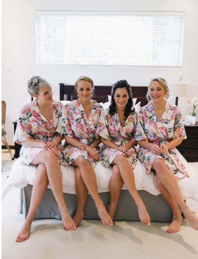 Cotton floral Tesi bridal robes https://www.facebook.com/lovetesi