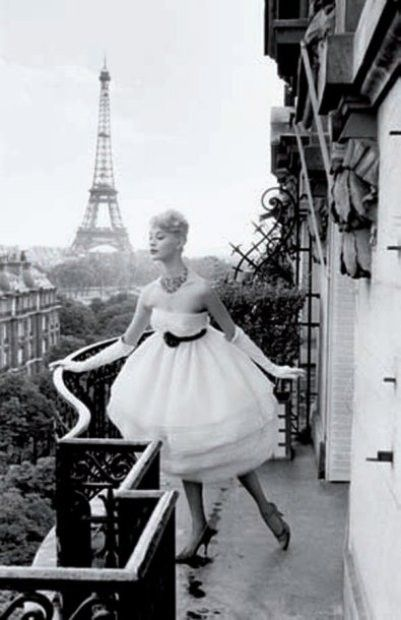 Shot on a balcony at the Plaza Athenee in Paris......1959.